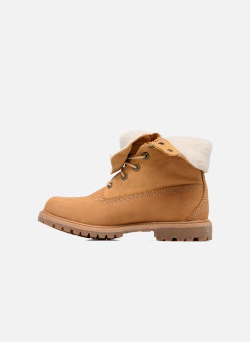 Boots en enkellaarsjes Timberland Authentics Teddy Fleece WP Fold Down Bruin voorkant