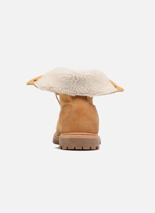 Boots en enkellaarsjes Timberland Authentics Teddy Fleece WP Fold Down Bruin rechts