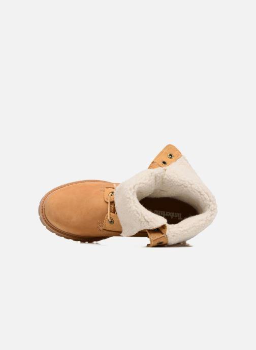 Bottines et boots Timberland Authentics Teddy Fleece WP Fold Down Marron vue gauche
