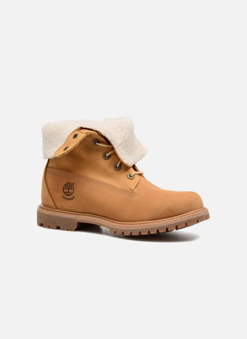Bottines et boots Timberland Authentics Teddy Fleece WP Fold Down Marron vue détail/paire