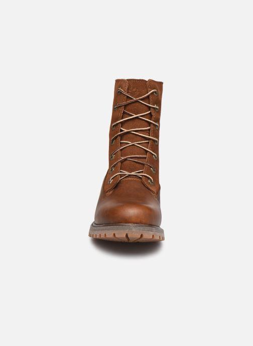 Stiefeletten & Boots Timberland Authentics Teddy Fleece WP Fold Down braun schuhe getragen