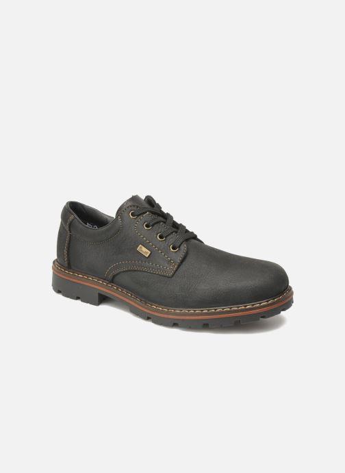 Lace-up shoes Rieker Triol 17710 Black detailed view/ Pair view