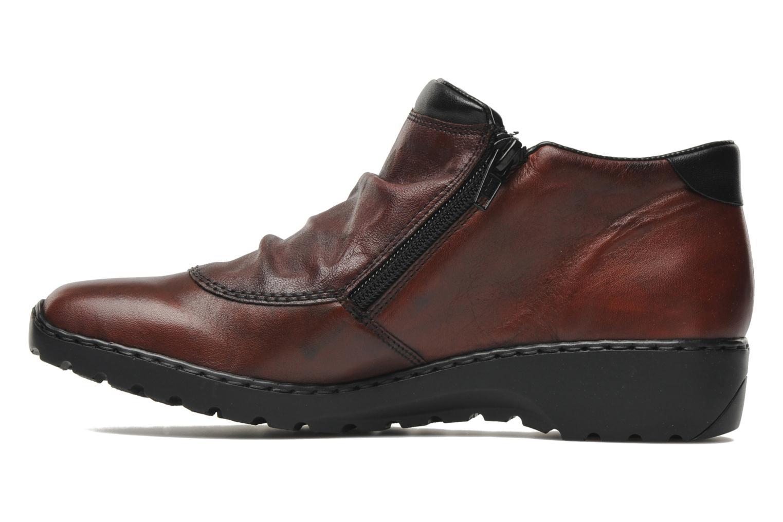 Bottines et boots Rieker Torti L6052 Bordeaux vue face