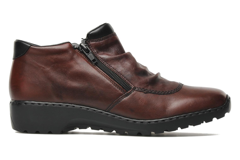 Bottines et boots Rieker Torti L6052 Bordeaux vue derrière