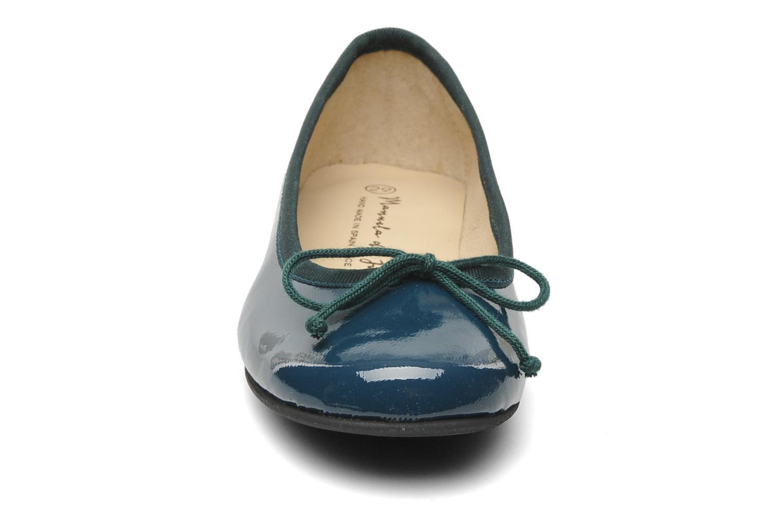 Ballerines Manuela de Juan Lyla Vert vue portées chaussures