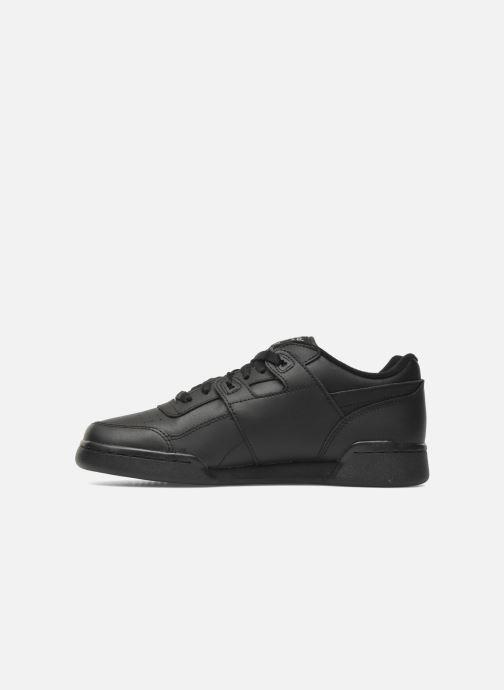 Sneaker Reebok Workout Plus schwarz ansicht von vorne