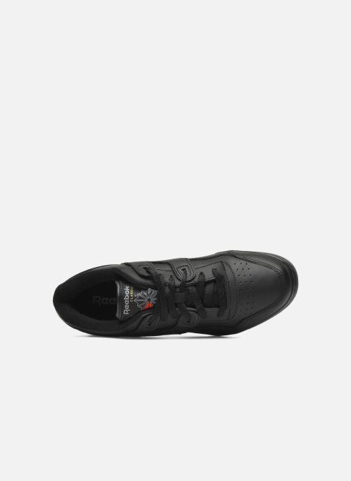 Sneaker Reebok Workout Plus schwarz ansicht von links