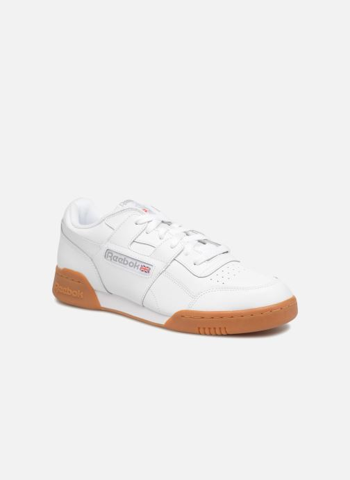 Baskets Reebok Workout Plus Blanc vue détail/paire