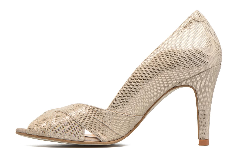High heels Jonak Acide Bronze and Gold front view