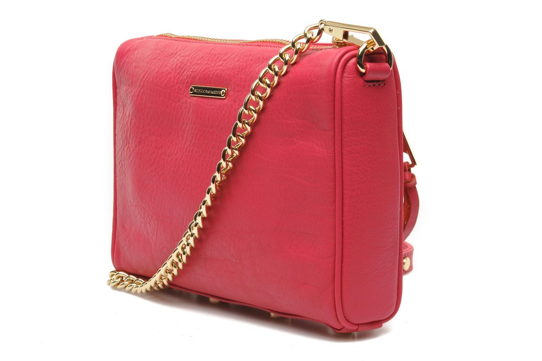 Handtaschen Rebecca Minkoff Mini 5 zip Clutch rosa ansicht von rechts