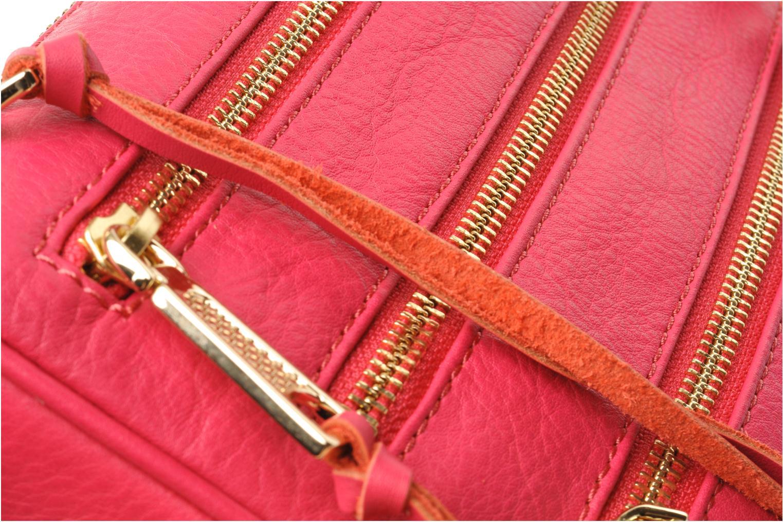 Handtaschen Rebecca Minkoff Mini 5 zip Clutch rosa ansicht von links