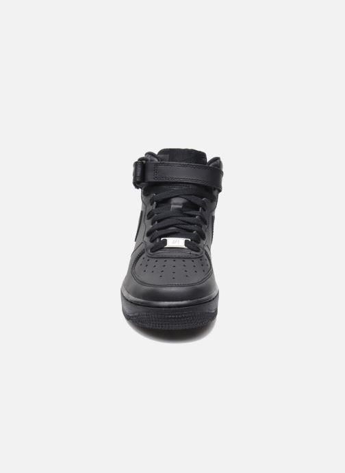 Sneaker Nike Air Force 1 Mid (Gs) schwarz schuhe getragen