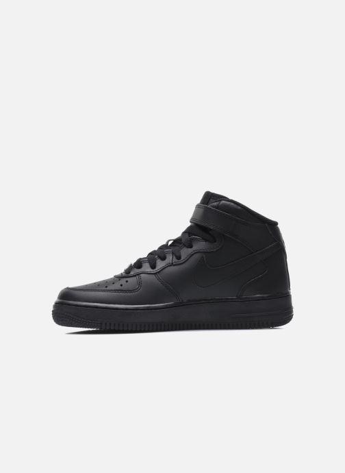 Sneaker Nike Air Force 1 Mid (Gs) schwarz ansicht von vorne