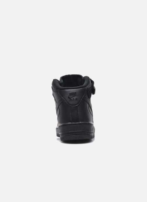 Sneaker Nike Air Force 1 Mid (Gs) schwarz ansicht von rechts