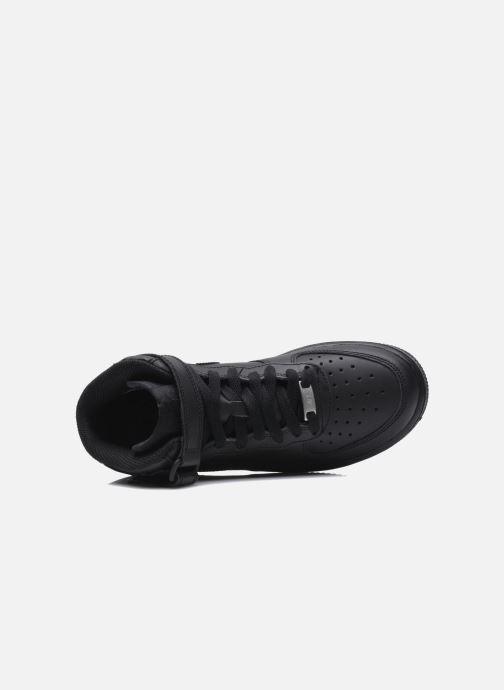 Sneaker Nike Air Force 1 Mid (Gs) schwarz ansicht von links