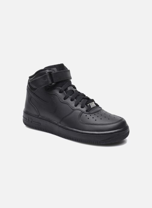 Sneaker Nike Air Force 1 Mid (Gs) schwarz detaillierte ansicht/modell