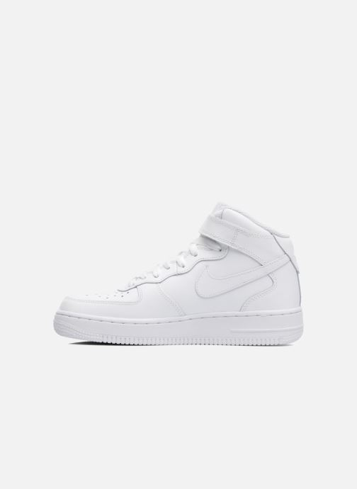 Deportivas Nike Air Force 1 Mid (Gs) Blanco vista de frente