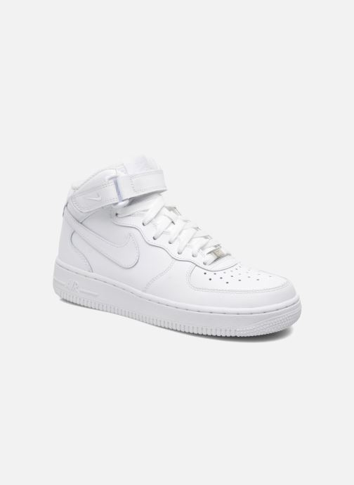 Deportivas Nike Air Force 1 Mid (Gs) Blanco vista de detalle / par