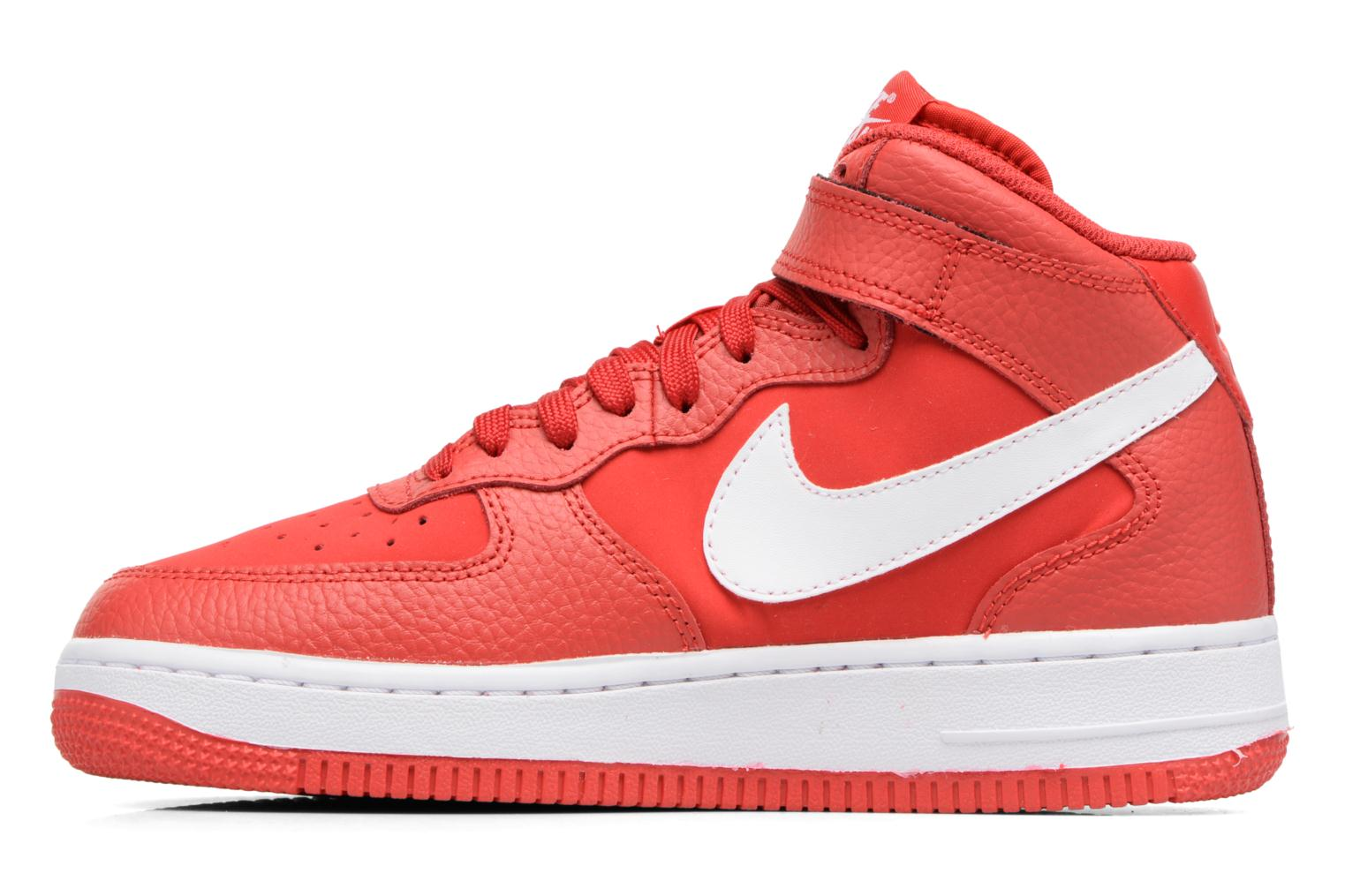 Baskets Nike Air Force 1 Mid (Gs) Rouge vue face