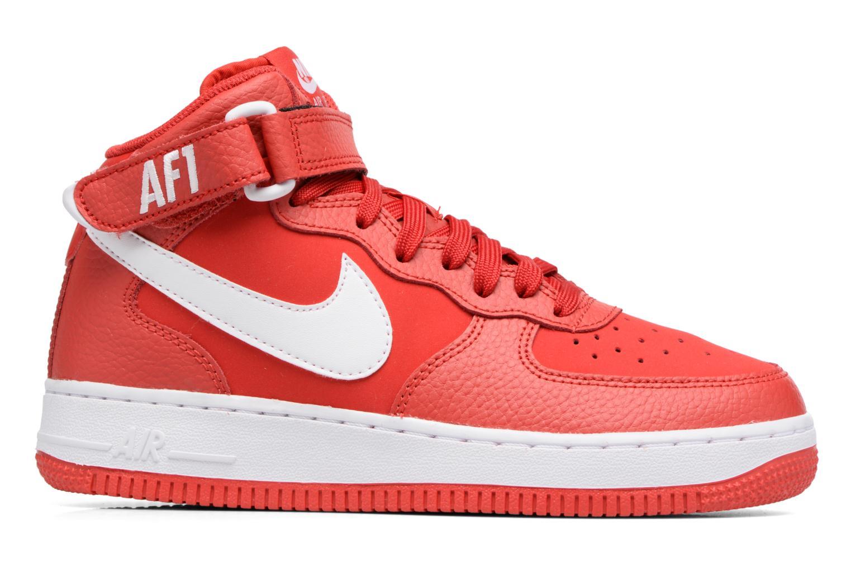 Baskets Nike Air Force 1 Mid (Gs) Rouge vue derrière