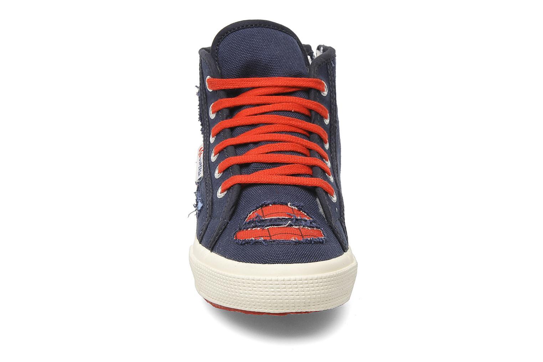 Sneakers Superga 2095 Spiderman 2 COBJ Azzurro modello indossato