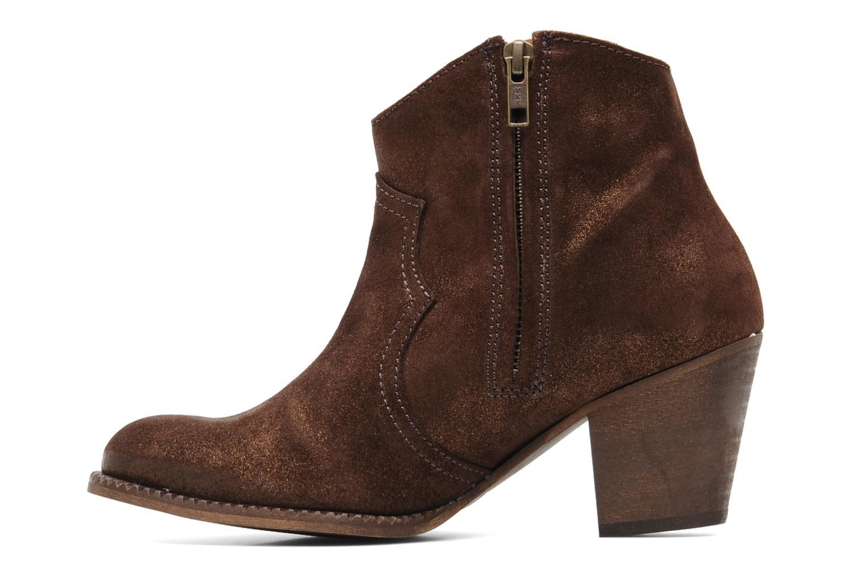 Bottines et boots Eden Celil Marron vue face