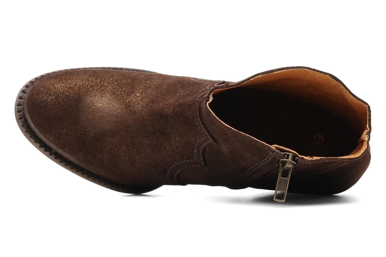 Bottines et boots Eden Celil Marron vue gauche