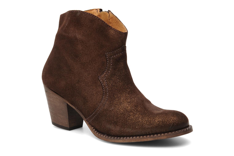 Bottines et boots Eden Celil Marron vue détail/paire
