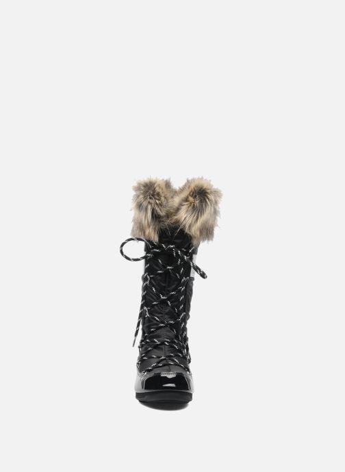 Bottes Moon Boot Monaco Noir vue portées chaussures
