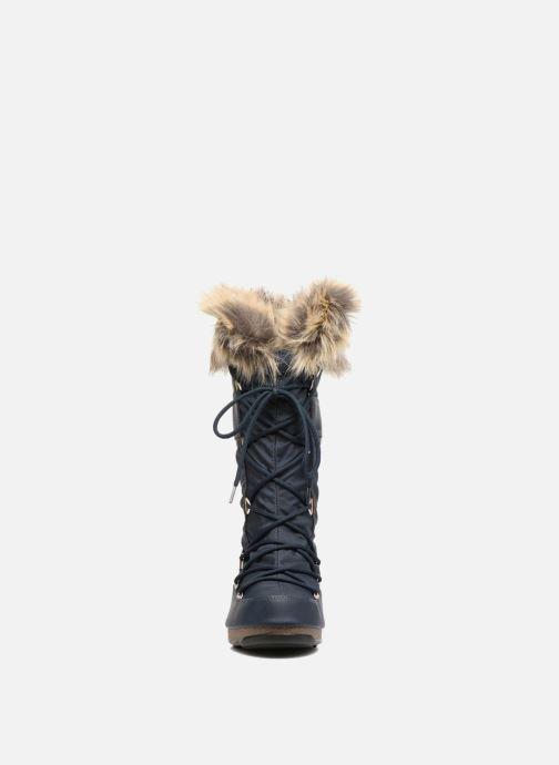 Bottes Moon Boot Monaco Bleu vue portées chaussures