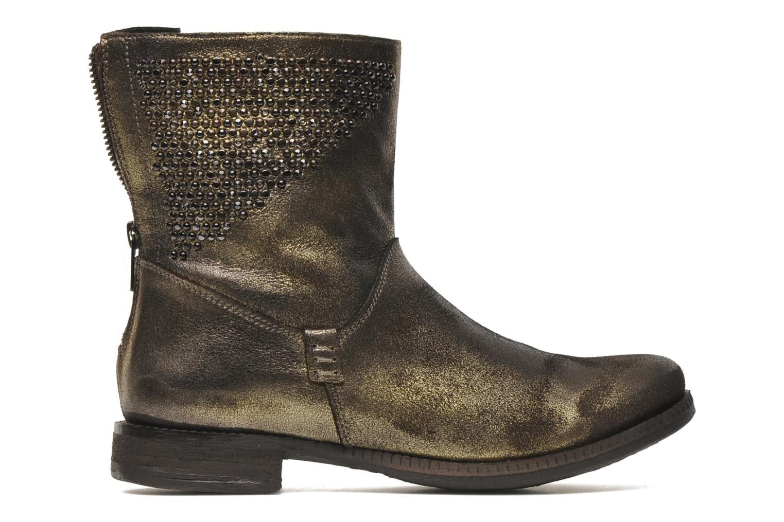 Ankle boots Khrio Cuma Bronze and Gold back view