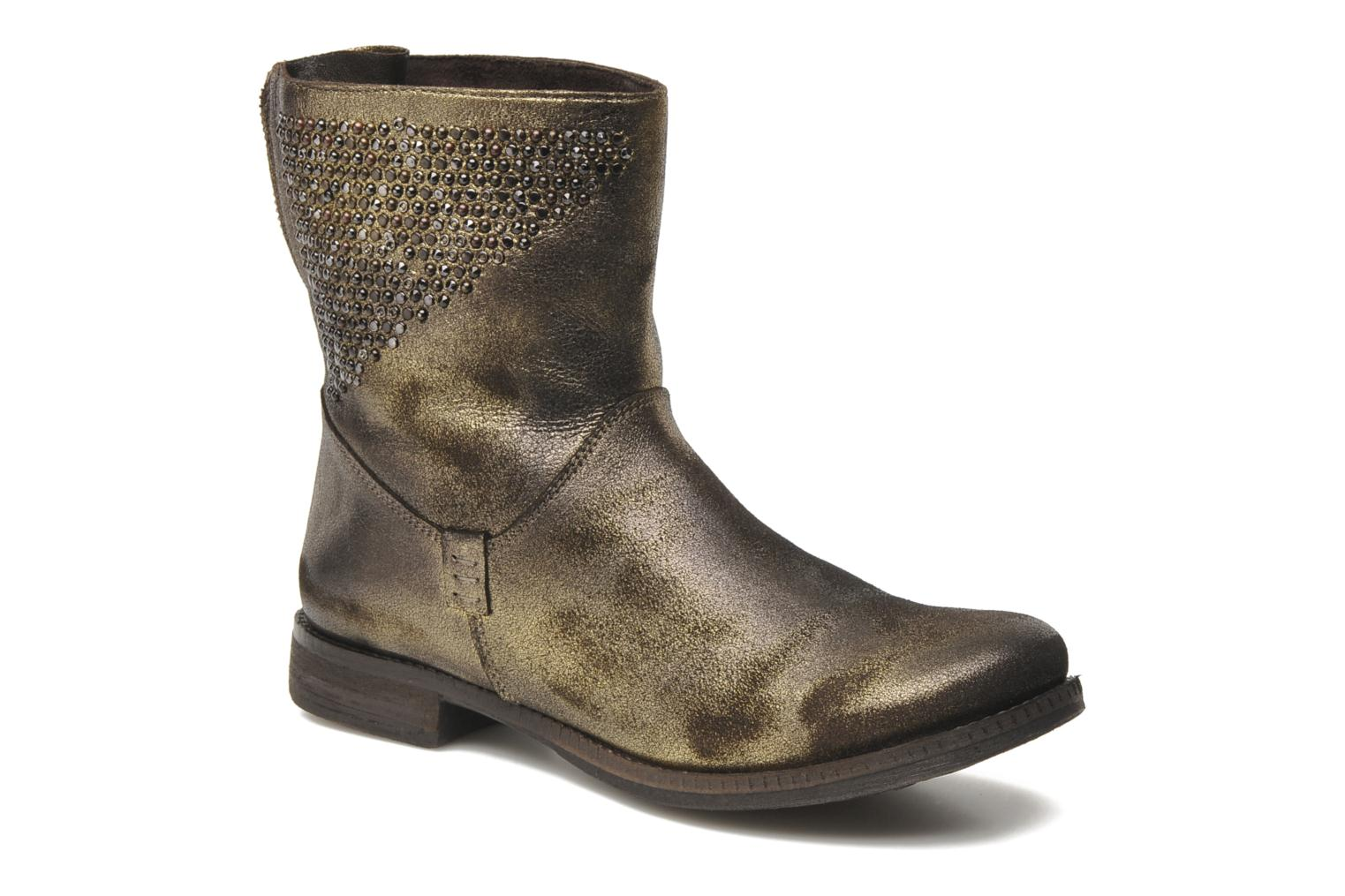 Ankle boots Khrio Cuma Bronze and Gold detailed view/ Pair view