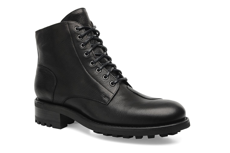 Bottines et boots Jean-Baptiste Rautureau Hyrod Lace Up Noir vue détail/paire