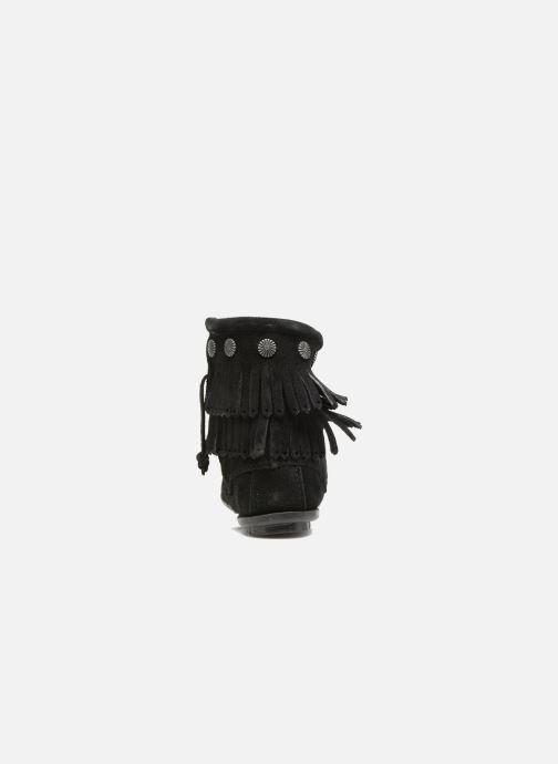 Botines  Minnetonka Double Fringe side zip boot Negro vista lateral derecha