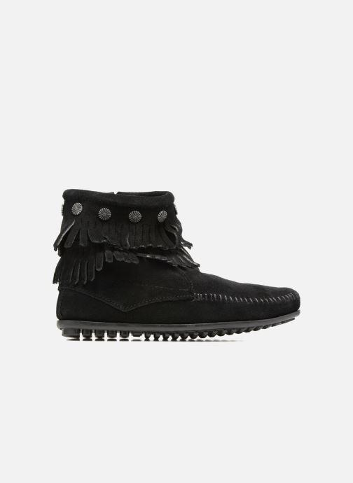 Boots en enkellaarsjes Minnetonka Double Fringe side zip boot Zwart achterkant
