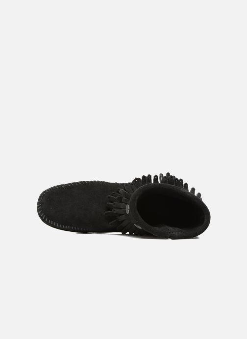 Botines  Minnetonka Double Fringe side zip boot Negro vista lateral izquierda
