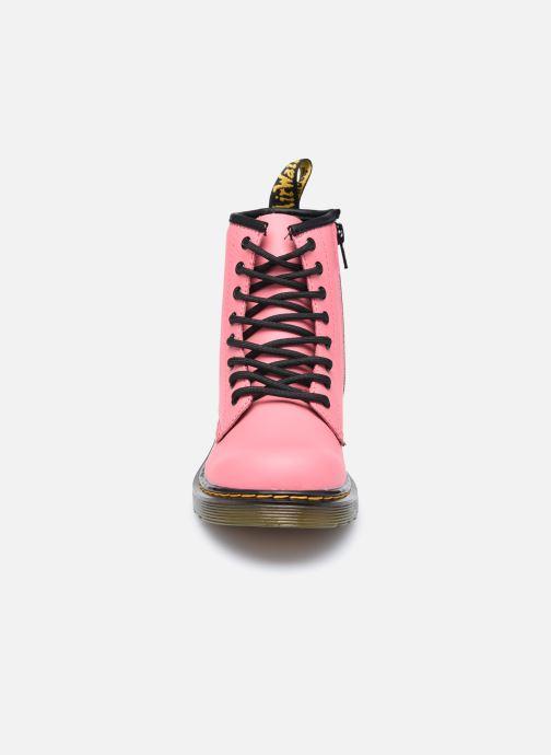 Bottines et boots Dr. Martens 1460 J Rose vue portées chaussures