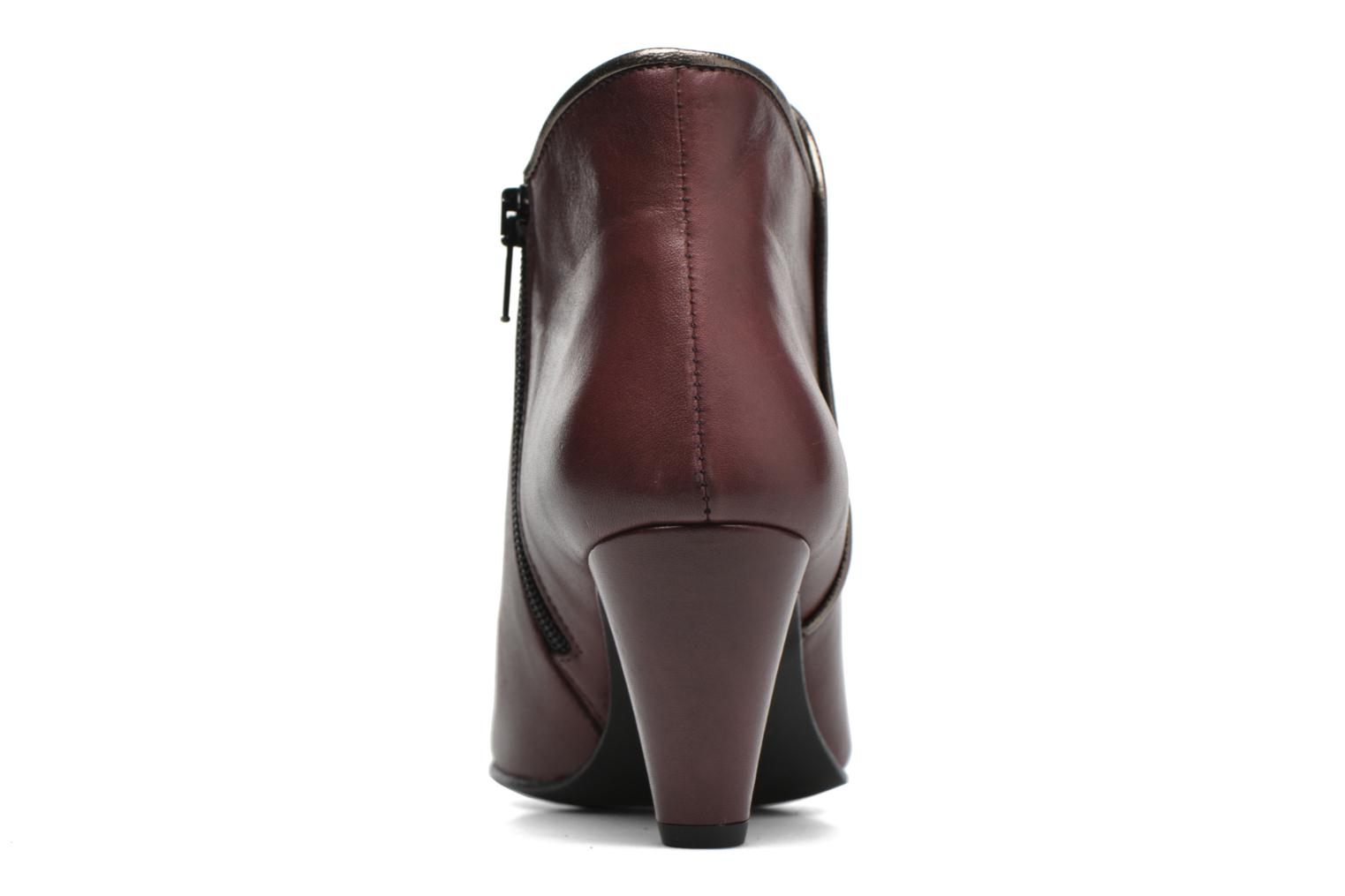 Ankle boots Georgia Rose Lagopède Burgundy view from the right