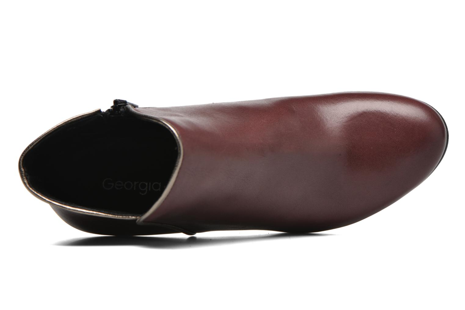 Ankle boots Georgia Rose Lagopède Burgundy view from the left