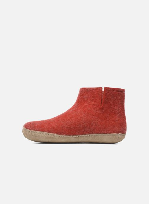 Chaussons Glerups Poras W Rouge vue face