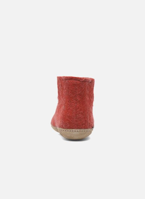 Chaussons Glerups Poras W Rouge vue droite