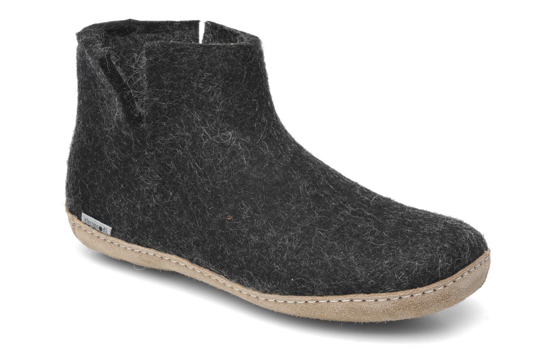 Hjemmesko Glerups Poras W Sort detaljeret billede af skoene