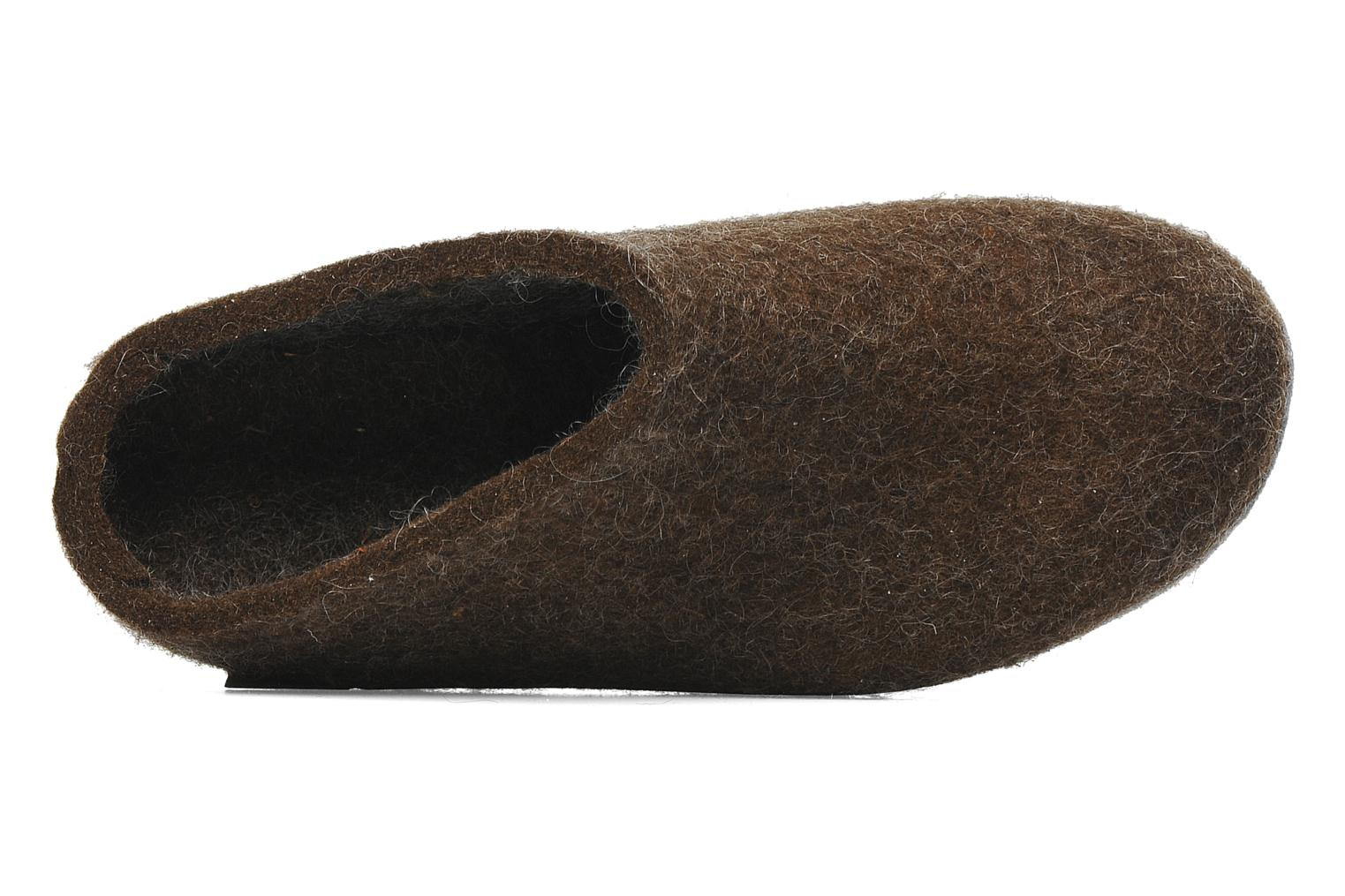 Slippers Glerups Piras W Brown view from the left