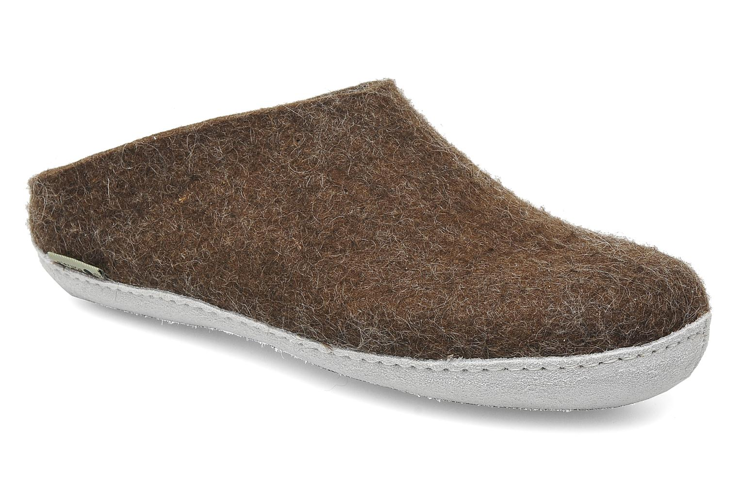 Slippers Glerups Piras W Brown detailed view/ Pair view