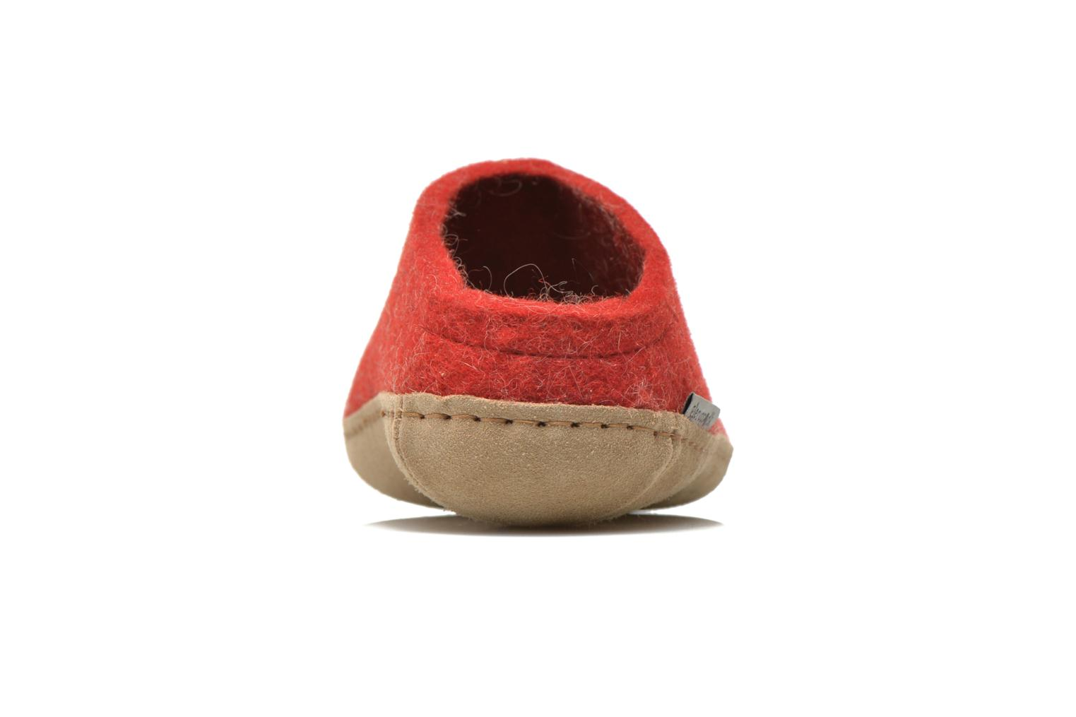 Slippers Glerups Piras W Red view from the right