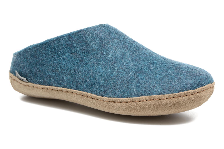 Slippers Glerups Piras W Blue detailed view/ Pair view
