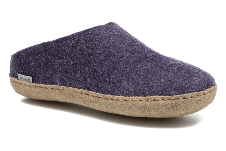 Slippers Glerups Piras W Purple detailed view/ Pair view