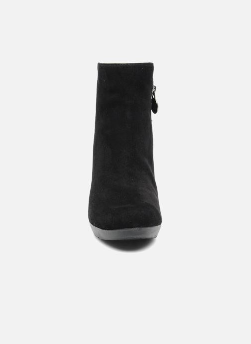 Bottines et boots Geox D INSPIRAT.ST. D34G9A Noir vue portées chaussures
