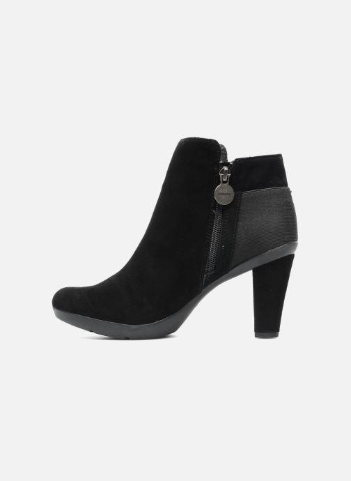 Boots en enkellaarsjes Geox D INSPIRAT.ST. D34G9A Zwart voorkant