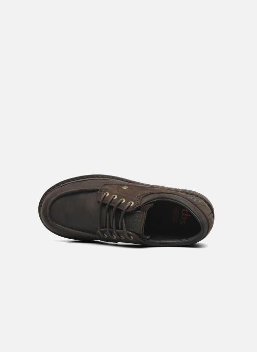 Zapatos con cordones TBS Sannio Marrón vista lateral izquierda
